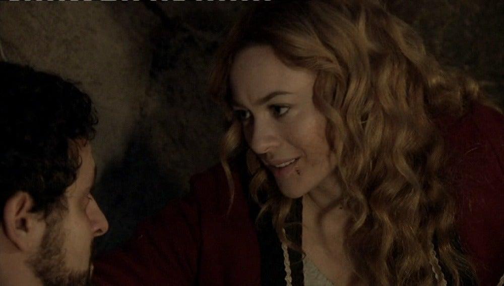 Sara desvela a Roberto que es la bandolera del rifle