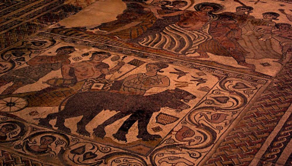 Mosaico romano de la villa de Santa Cruz