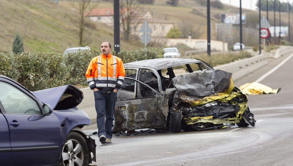 Accidente de coche en Burgos