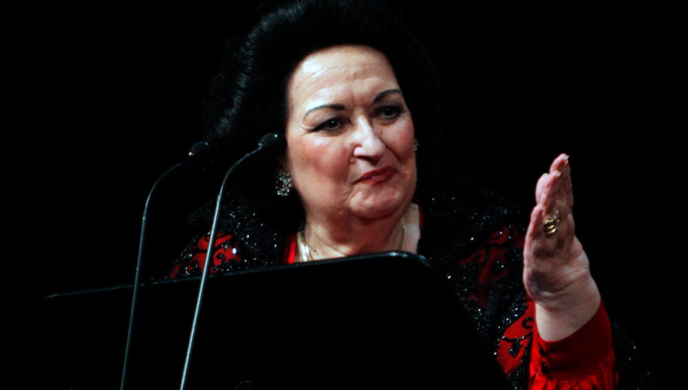 La soprano Monserrat Caballé