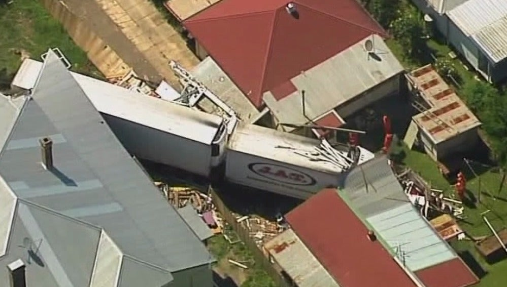 Accidente de un camión en Australia