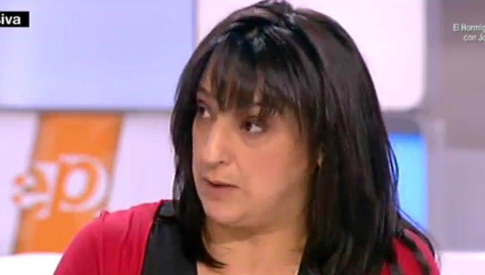 Raquel entrevistada en Espejo Público