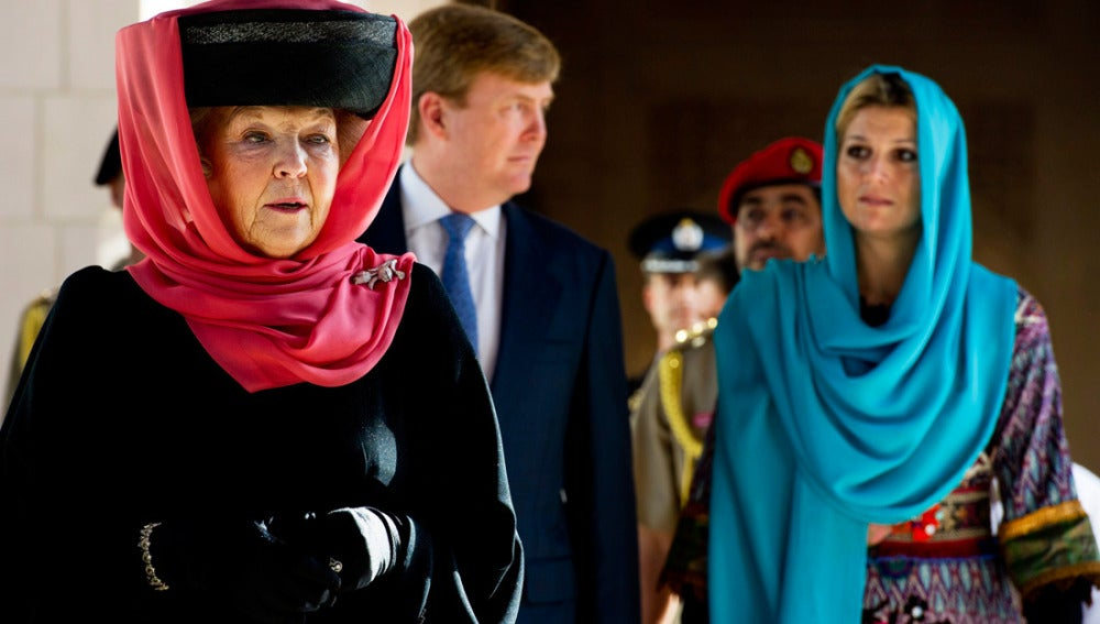 Beatriz de Holanda junto a su familia