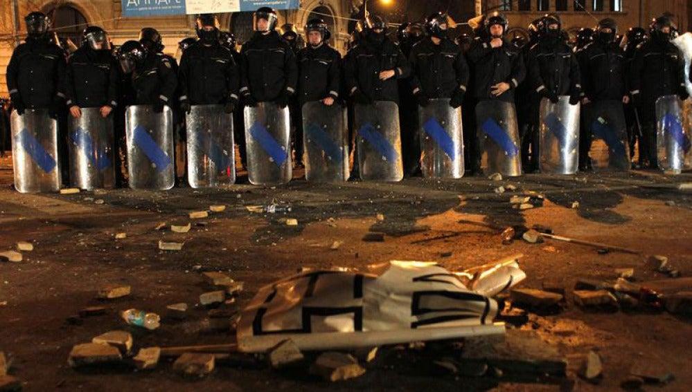 Enfrentamientos entre policía y manifestantes rumanos