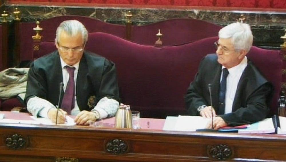 El juez Baltasar Garzón en la segunda sesión del juicio por las escuchas en la trama 'Gürtel'.