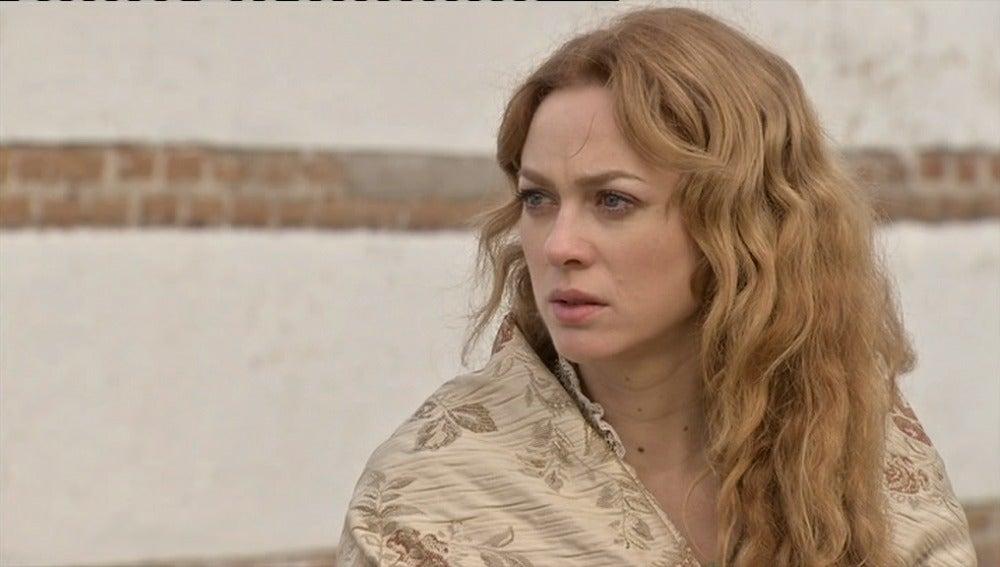 Sara, ante la tumba de Miguel, promete vengarse de Leonor