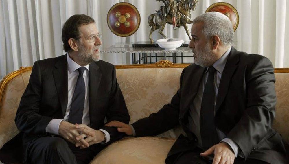 Mariano Rajoy con su homólogo marroquí