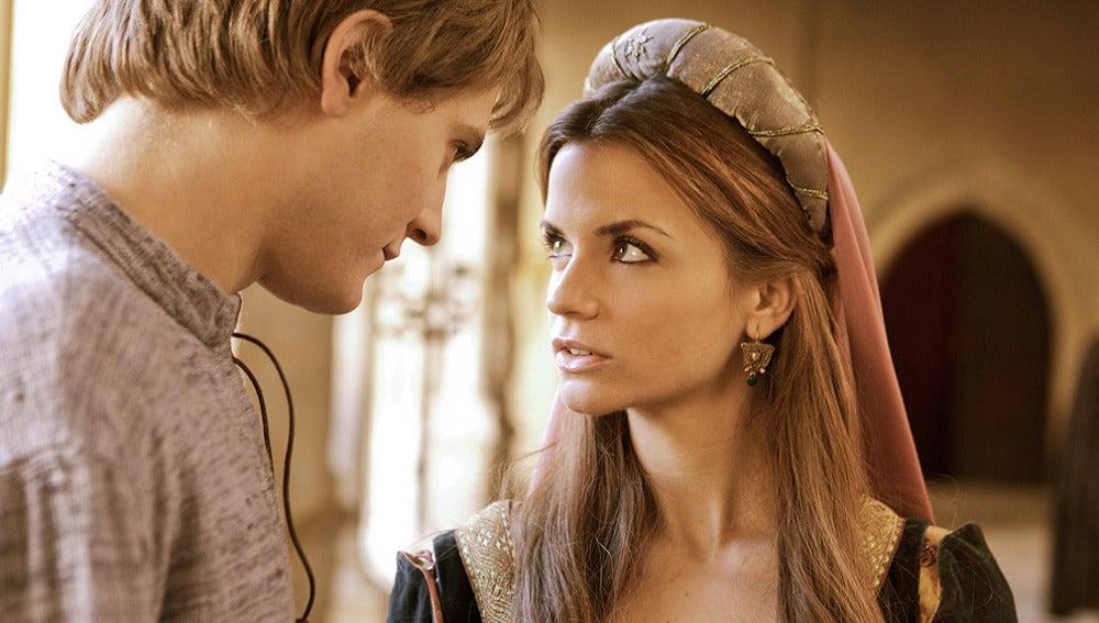 El infante Fernando con Diana, la dama de la corte