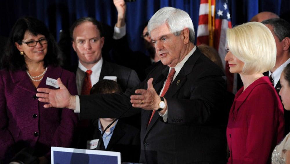 El precandidato presidencial republicano Newt Gingrich