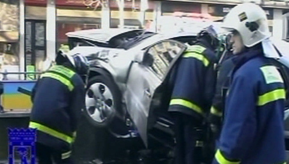 Accidente de tres coches en Madrid