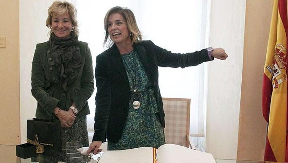 Esperanza Aguirre y Ana Botella