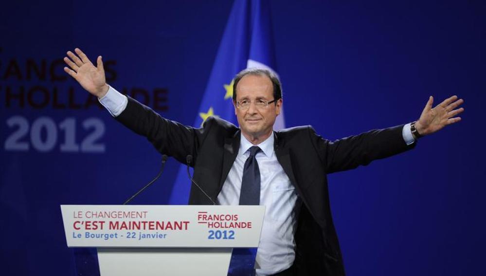 """Hollande señala como su enemigo al """"mundo de las finanzas"""""""