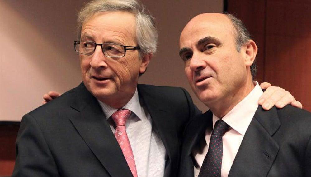 Jean-Claude Junker y Luis de Guindos