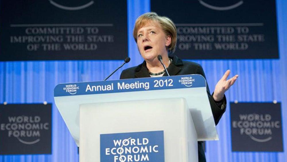 Angela Merkel en el Foro de Davos