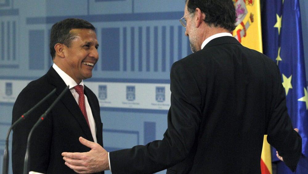 Ollanta Humala junto a Mariano Rajoy