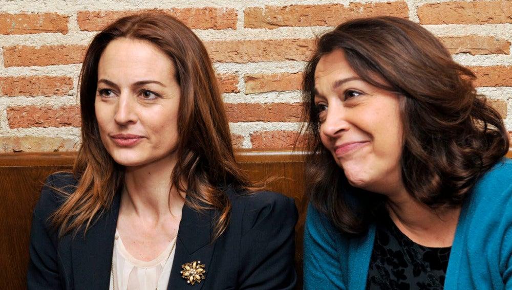 María y Cuca durante la entrevista