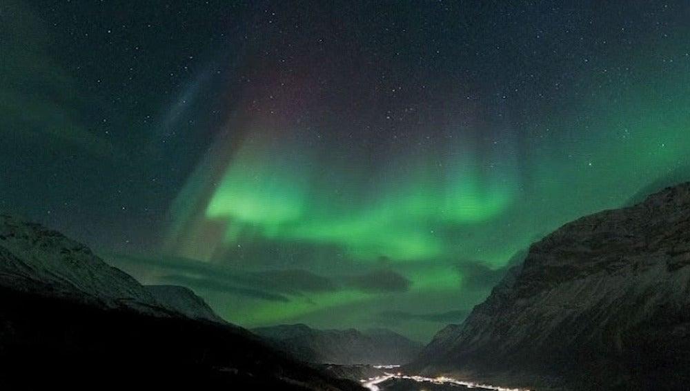 Imagen de una aurora boreal