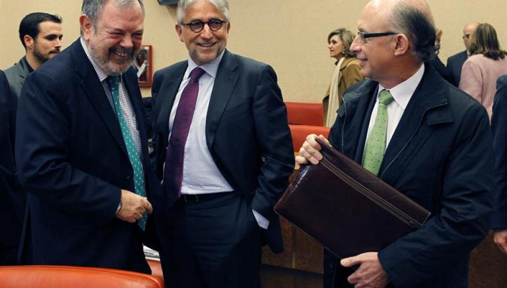 Cristóbal Montoro en la comisión de Hacienda y Administraciones Públicas del Congreso
