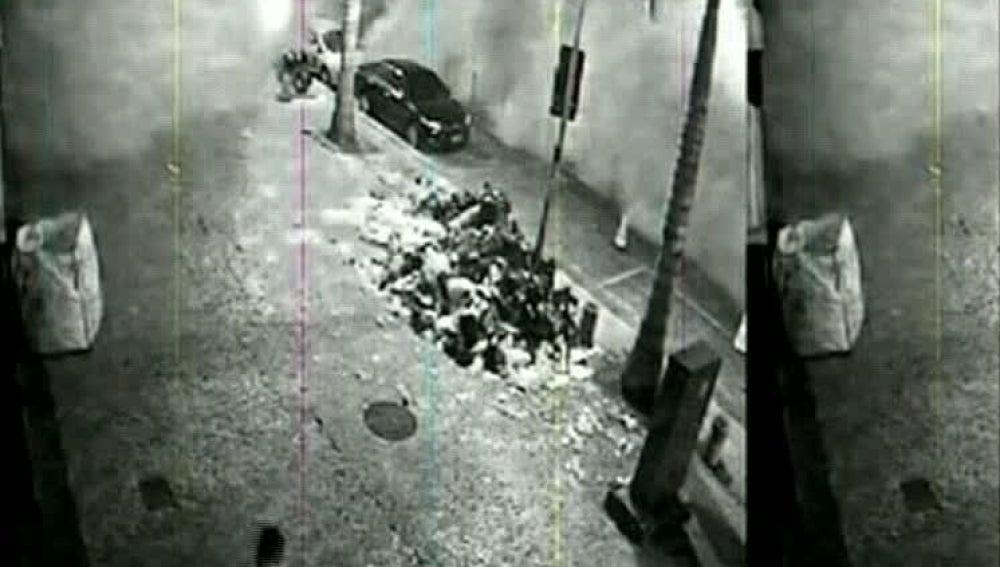 Una cámara de seguridad graba el derrumbe del edificio de Río de Janeiro