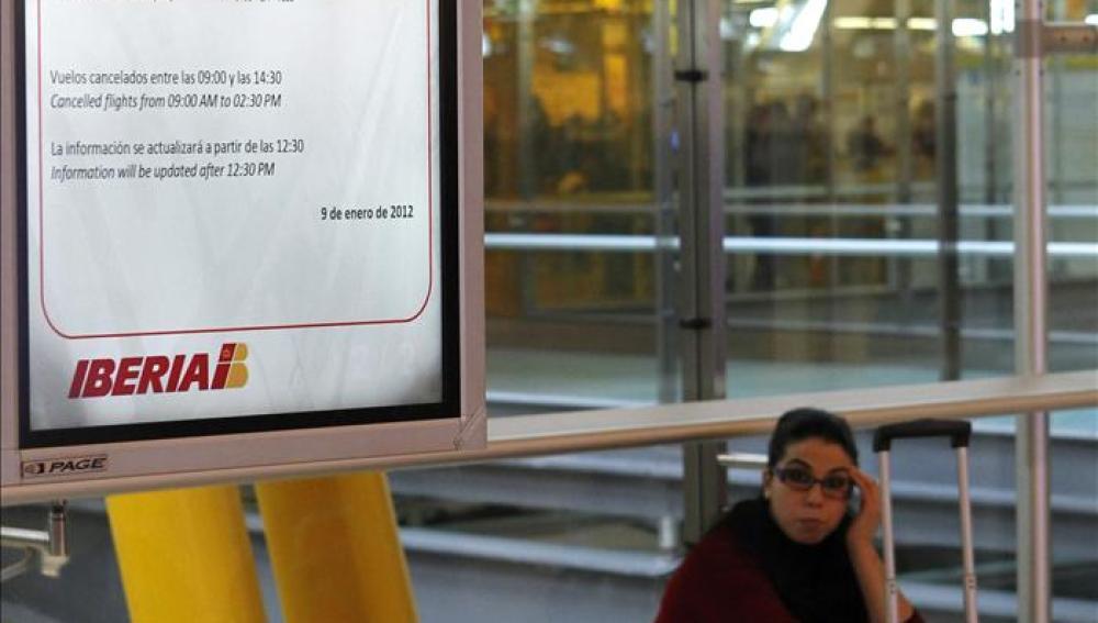 Iberia cancela 94 vuelos