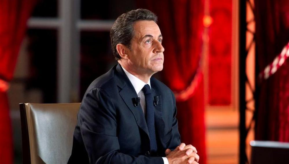 Sarkozy en el Palacio del Eliseo