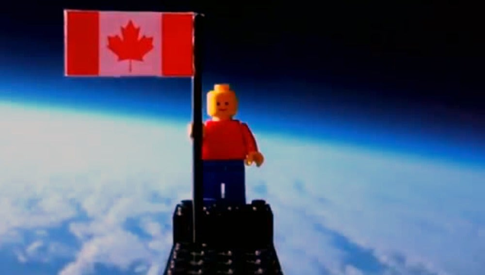 Hombre Lego en el espacio