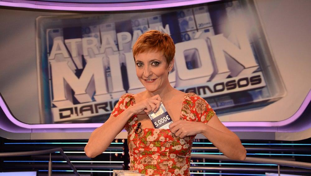 Eva Hache en 'Atrapa un millón'