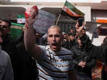 Protesta de ciudadanos sirios