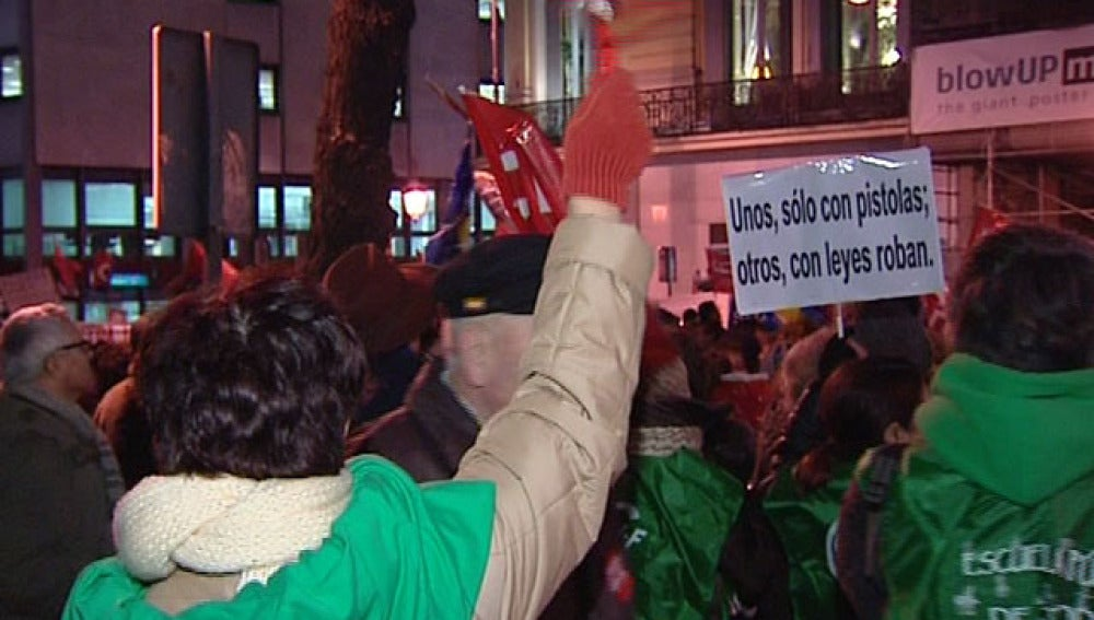 Protestas contra los recortes en Madrid