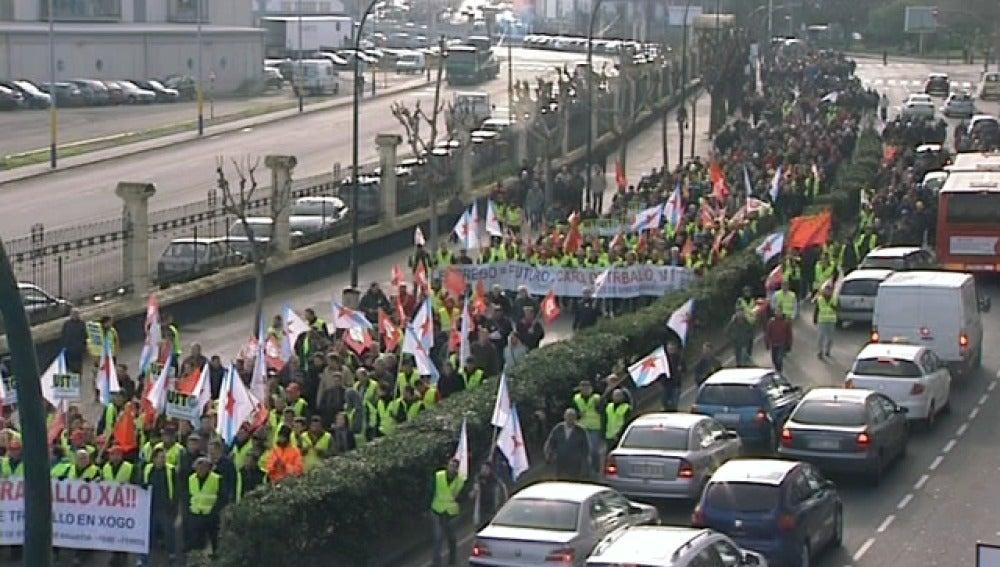Protestas del sector naval en La Coruña