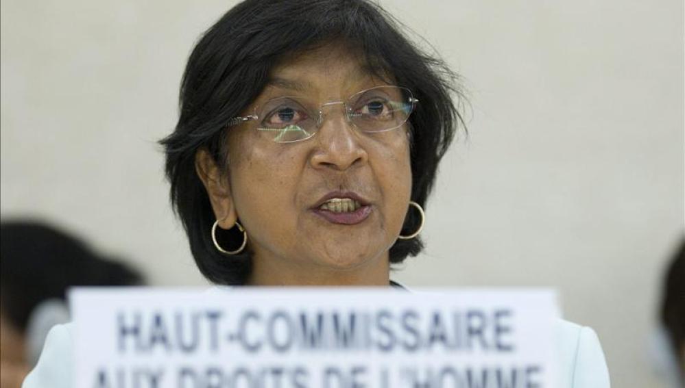 Navi Pillay, la Alta Comisionada de la ONU