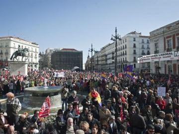 Manifestación por la reforma laboral en Madrid