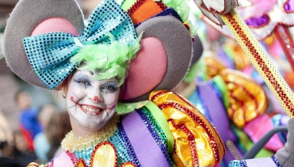 Disfraz de ratita en los Carnavales de Las Palmas.
