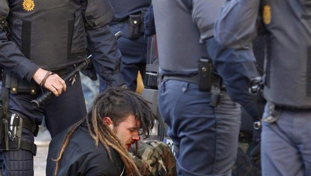 Uno de los jóvenes detenidos en Valencia