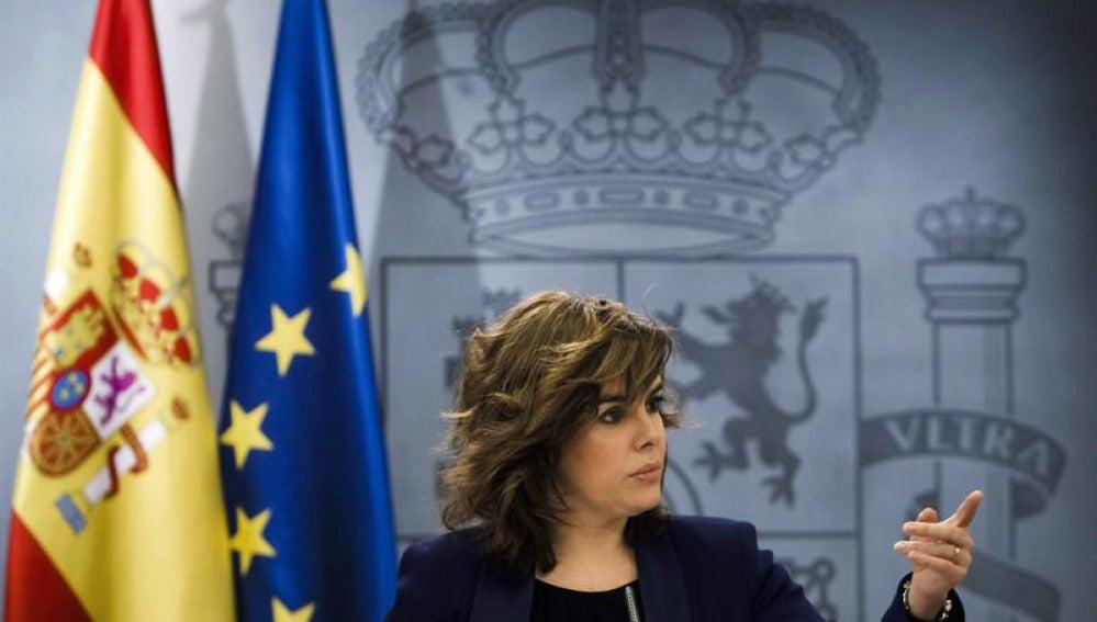 Sáenz de Santamaría tras el Consejo de Ministros