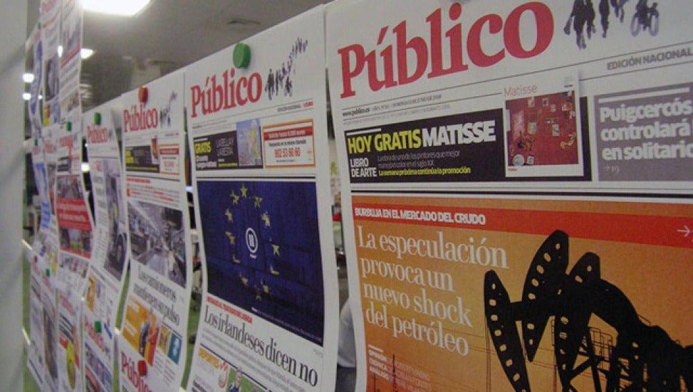 Portadas del diario 'Público