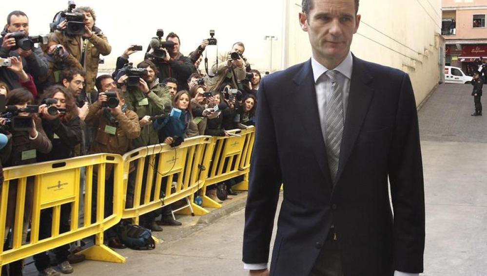 Iñaki Urdangarin entra al juzgado