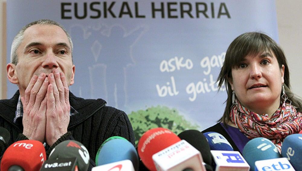 Los dirigentes de la izquierda abertzale, Maribi Ugarteburu y Joseba Permach