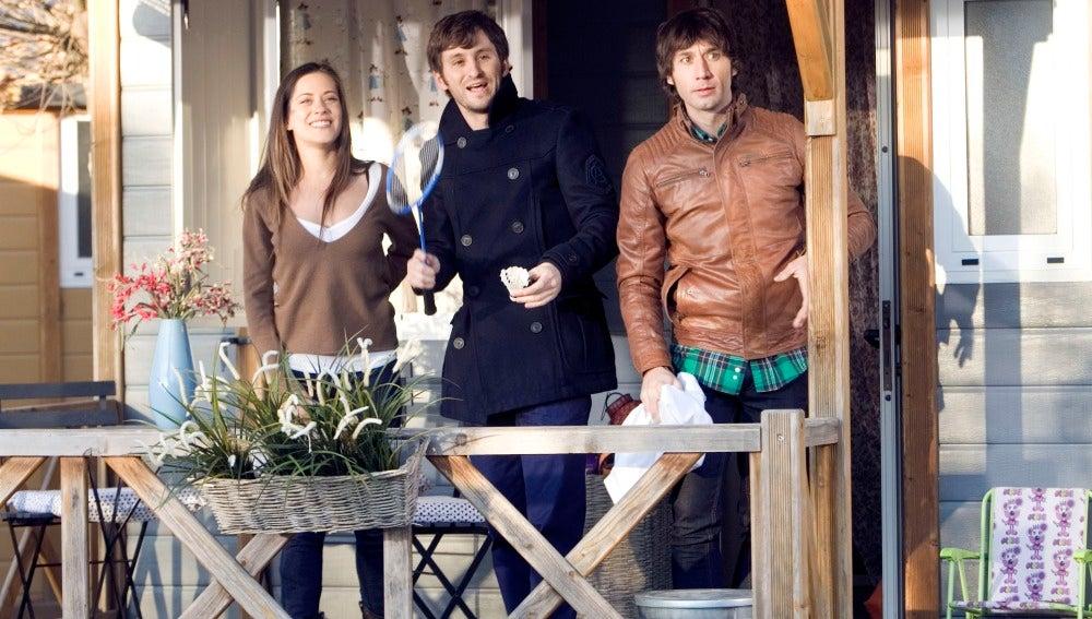 Sandra, Jorge y Ángel