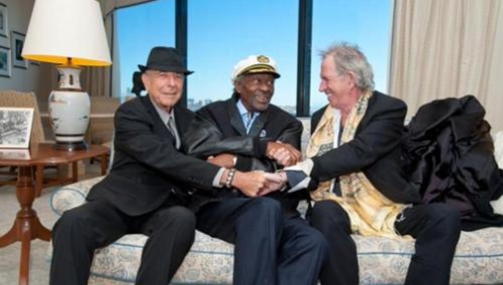 Leonard Cohen, Chuck Berry y Keith Richards