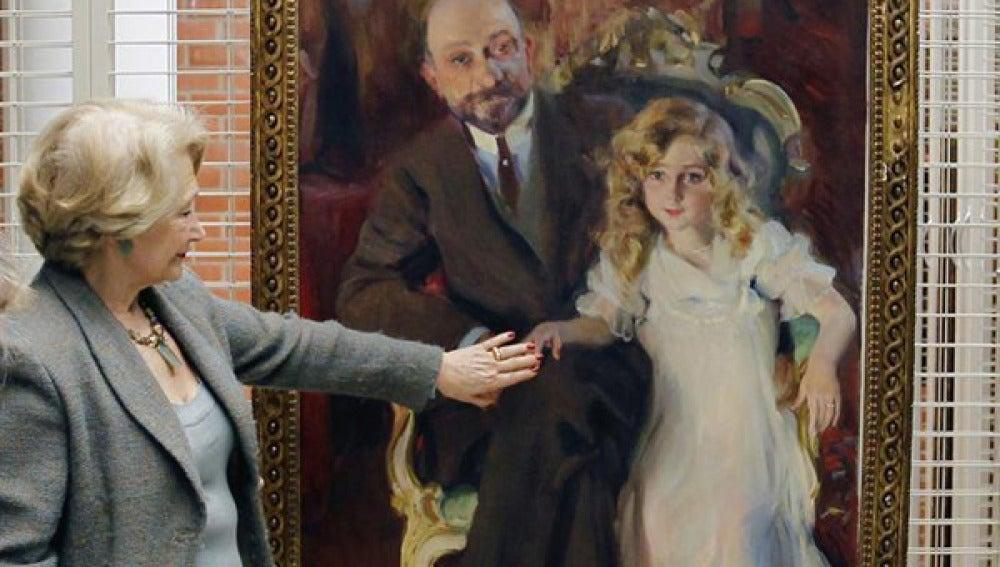 Cuadro 'Retrato de Carlos Urcola Ibarra con su hija'.