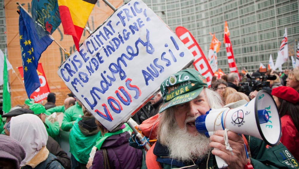 Protesta en Bruselas contra los recortes