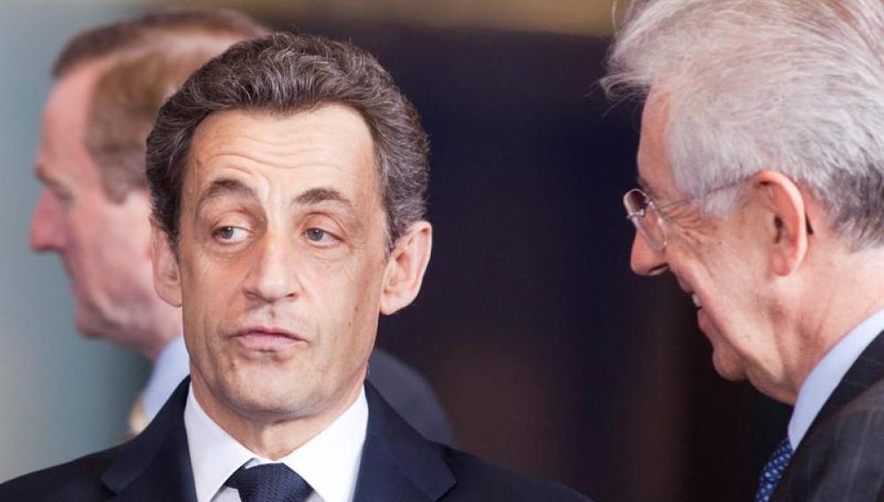 Sarkozy en la cumbre europea de jefes de estado
