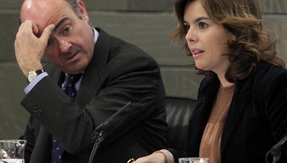 Soraya Sáenz de Santamaría y Luis de Guindos