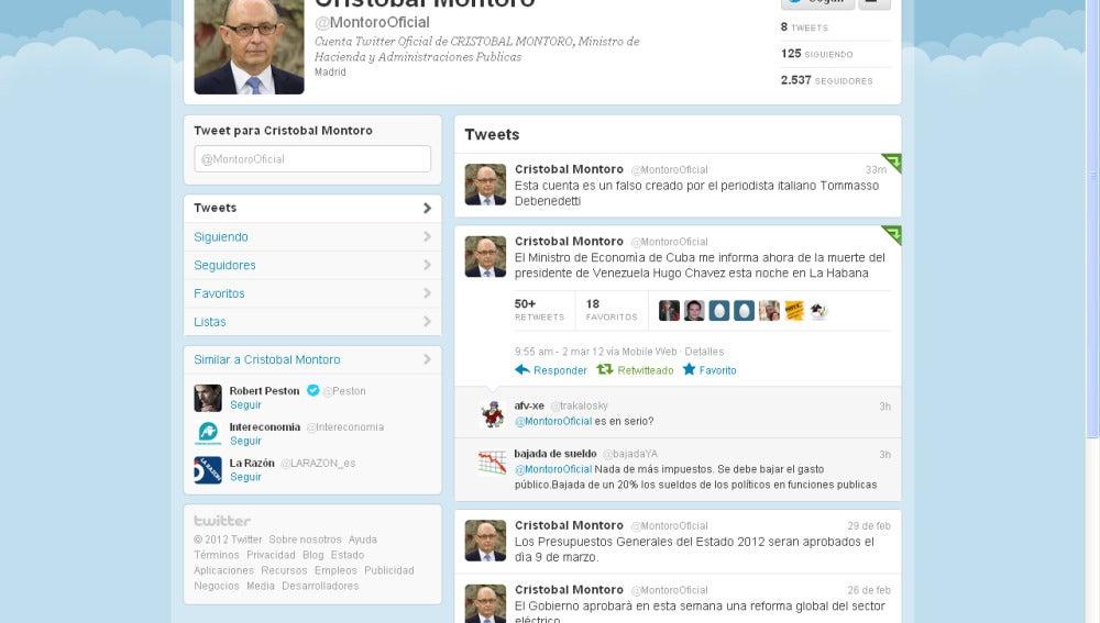 Twitter de Cristóbal Montoro