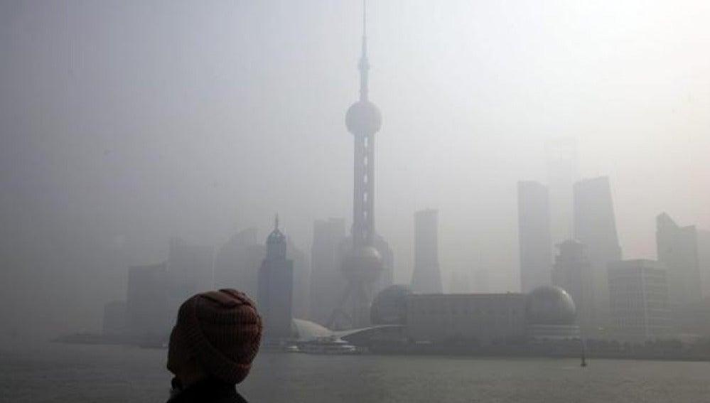 Alta contaminación en China