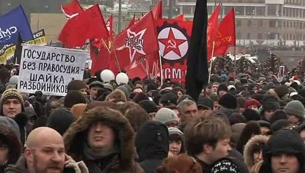 Protestas en Rusia contra Putin