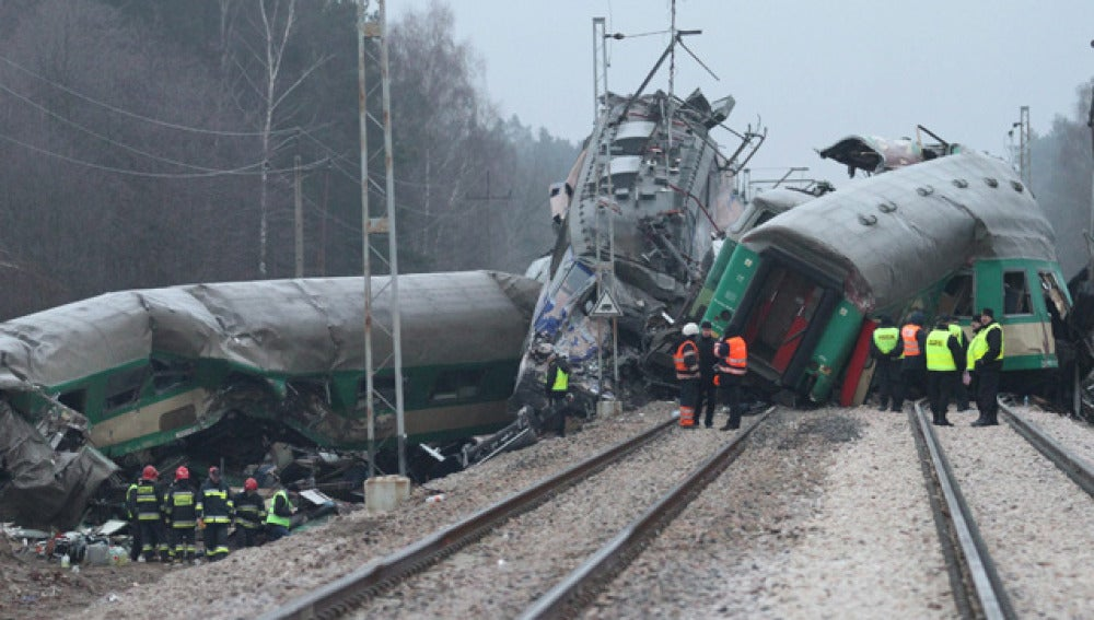 Accidente de trenes en Polonia
