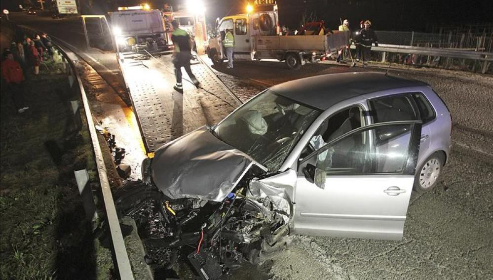 Accidente de tráfico en Betanzos