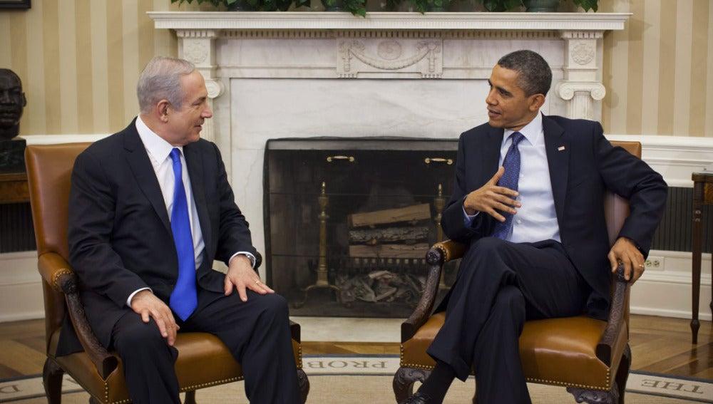 Obama en su reunión con Netanyahu